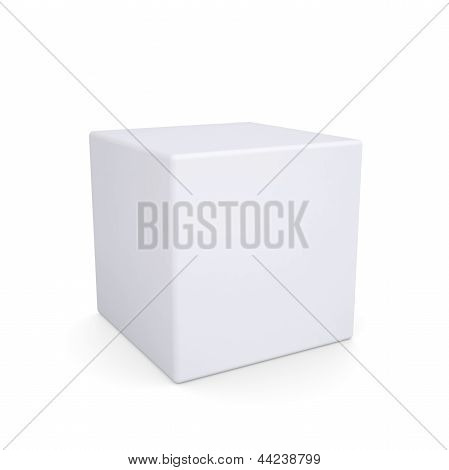 White cube with rounded edges