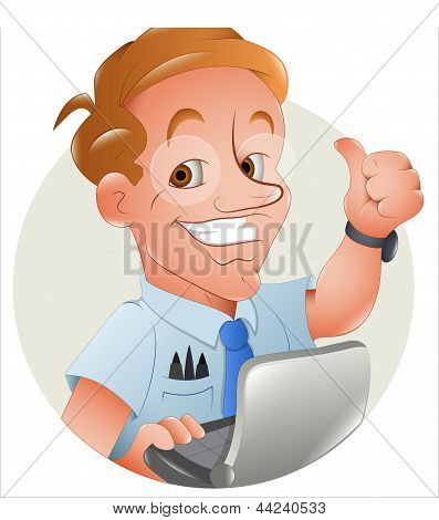 Computer Programmer Vector Illustration