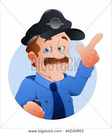 Traffic Police Officer Vector Illustration