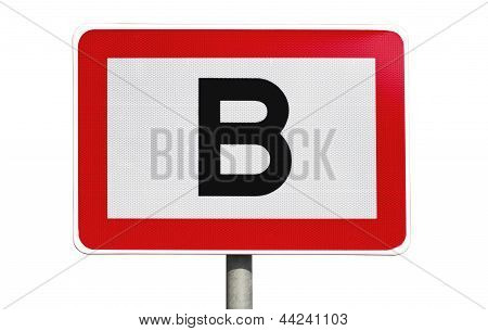 Isolated Public Road Sign
