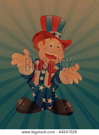 Uncle Sam Vintage Background