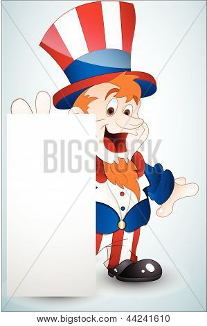Cute Uncle Sam Banner