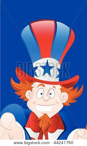 Closeup of Happy Uncle Sam
