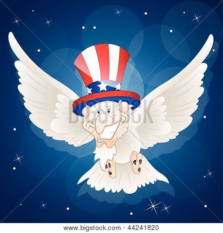 Patriotic Sam Bird Illustration