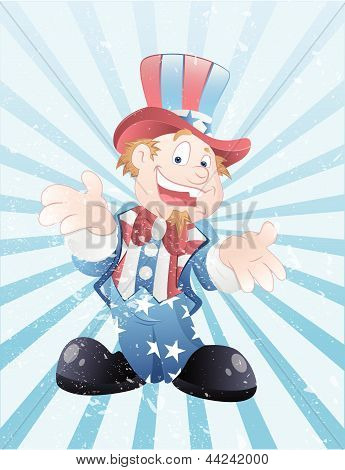 Uncle Sam Grunge Vector