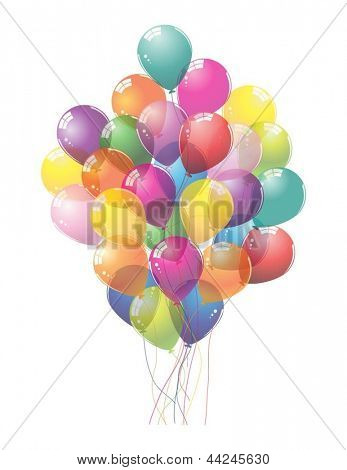 Colorful Balloons.Vector illustration.