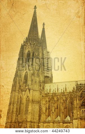 view of Gothic Cathedral in Cologne (K���¶ln), Germany