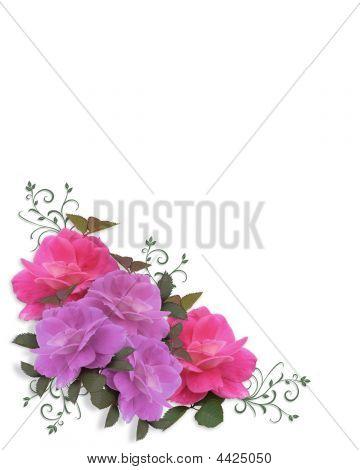 Roses Corner Design Element