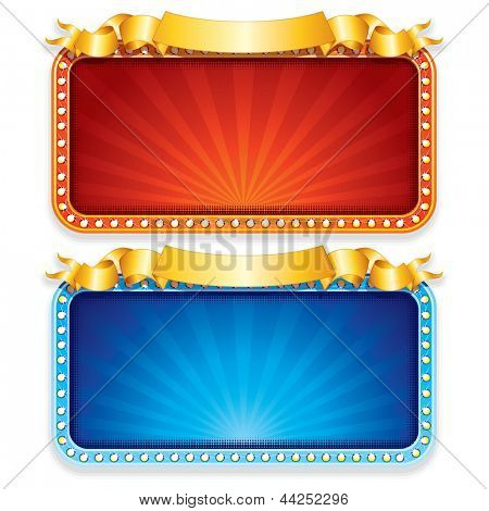 Empty Casino Neon Sign. Vector Graphics