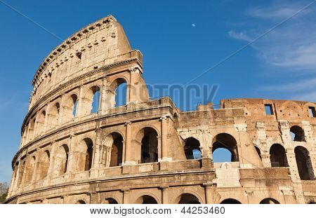 The legendary ancient Colosseo or Colosseum, Roma, Italy.