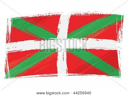 Grunge Basque Country flag