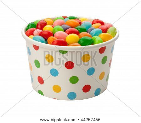 Jellybeans In A Paper Cup