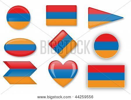 Armenischen Flagge