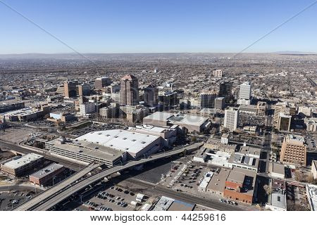 Albuquerque New Mexico downtown aerial view.