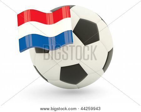 Fußball mit Flagge von Bonaire