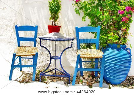 simple charming greek tavernas