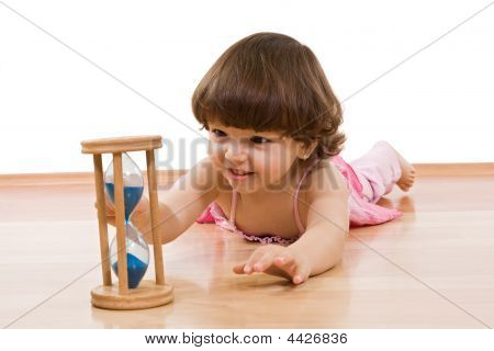 Little Girl With Sand Glass