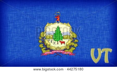 Linen Flag Of The Us State Of Vermont