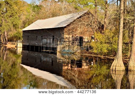 Grist mill in early spring