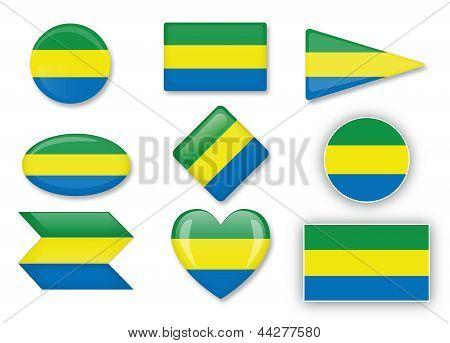 Gabun Flagge