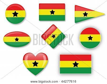 Flagge Ghanas