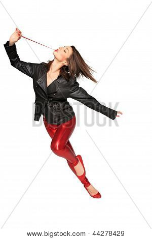 Young Dancer With Leather Jacket