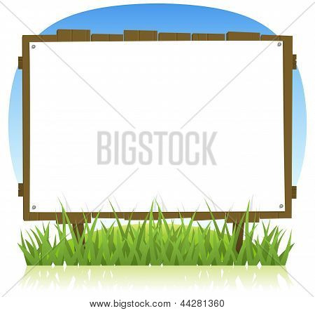 Summer Or Spring Country Wood Billboard