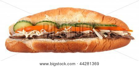 side view sub sandwich