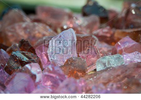 natural pink stones