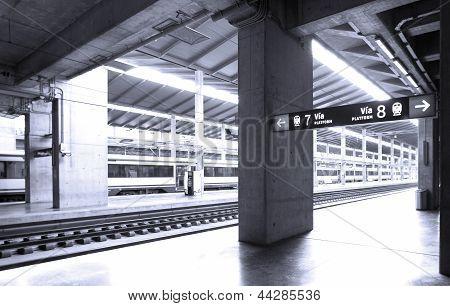 Railway Station And Platforms