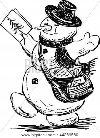 Snowman Postman
