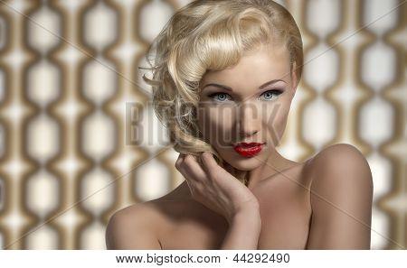 Sexy Woman Posing As A Diva