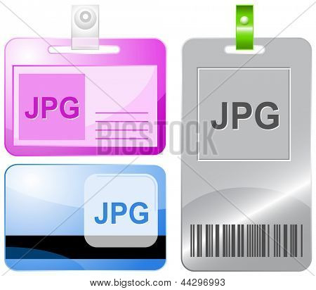 Jpg. Id cards. Raster illustration.