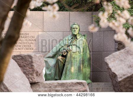 Statue At Roosevelt Memorial Washington Dc