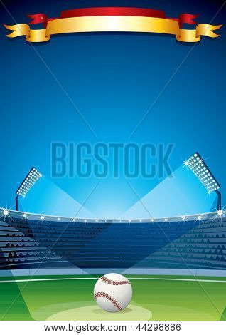 Baseball Stadium. Poster Design