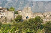 the Citadel is a impressive fortress overlooking the town of Berat, Albania