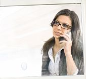 Businesswoman Talking On Mobilephone