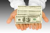 picture of holding money  - business concepts - JPG