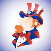 Cartoon Uncle Sam Vector
