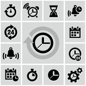 stock photo of clocks  - Clock icons - JPG