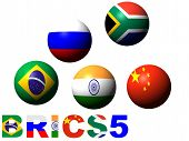 stock photo of zar  - brics5 the new economic power of the world - JPG
