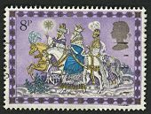 UK - CIRCA 1979: A stamp printed in UK shows image of The Magi, also referred to as the (Three) Wise