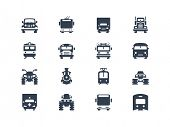 stock photo of passenger train  - Transportation icons - JPG