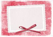 picture of valentines day card  - Red card for greeting in style retro - JPG