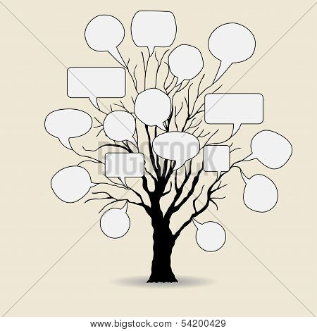 Abstract Tree With Speech Bubble