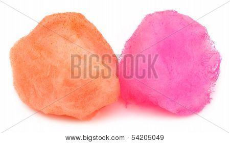 Cotton Candy Over White Background
