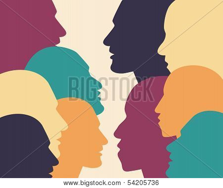 People profile shape.