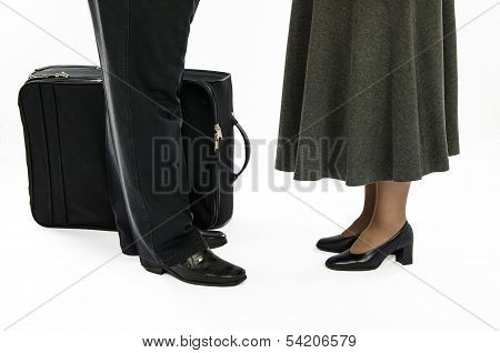 Man And A Woman before parting