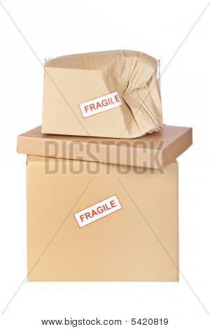 Damaged Cardboard Box