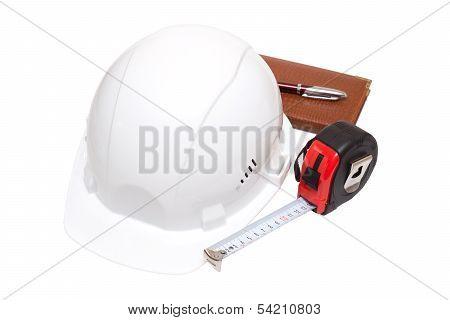 helmet with yardstick